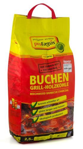 proFagus Buchen-Grill-Holzkohle 2,5kg