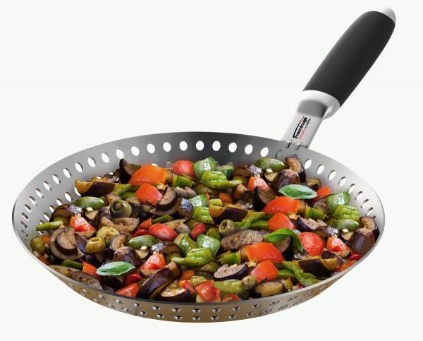 Feuerdesign Gemüse-Grillpfanne, Edelstahl