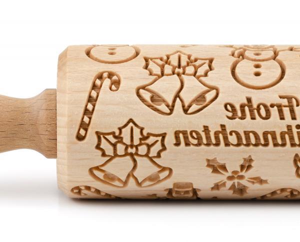 Folkroll Motiv-Teigrolle Frohe Weihnachten